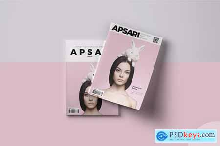 Apsari - Beauty Magazine Cover Template Indesign