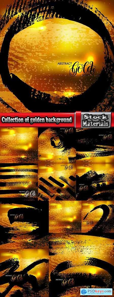 Collection of golden background example of picture for wallpaper banner flyer card 12 EPS