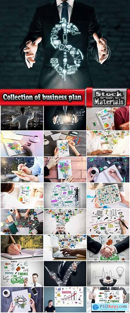 Collection of business plan planning strategy success businessman notebook 25 HQ Jpeg