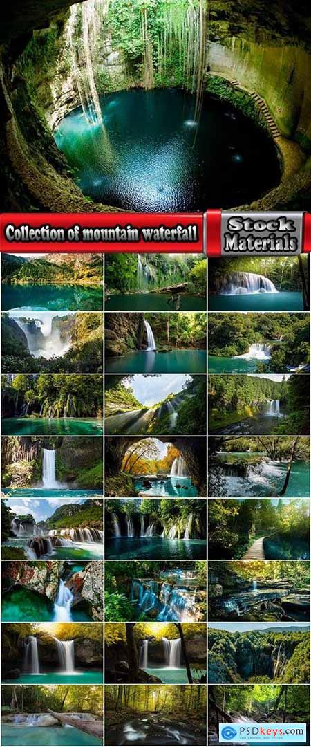Collection of mountain waterfall rock the forest the lake wildlife 25 HQ Jpeg