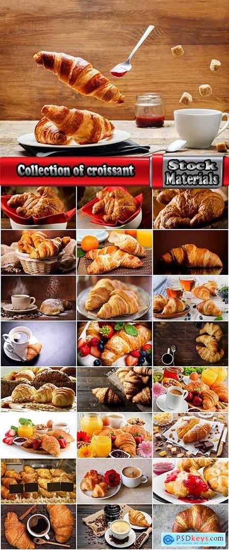 Collection of croissant pastry bun coffee juice 25 HQ Jpeg