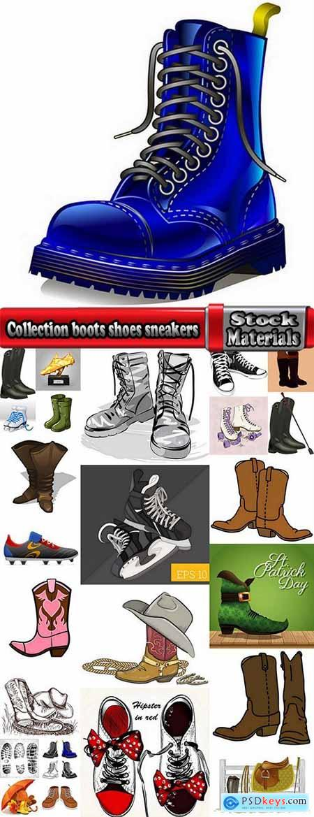 Collection boots shoes sneakers soccer sneaker 25 EPS