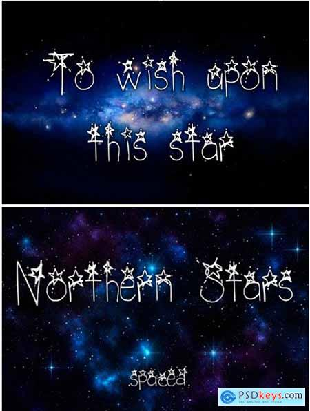 Northern Stars Spaced Font