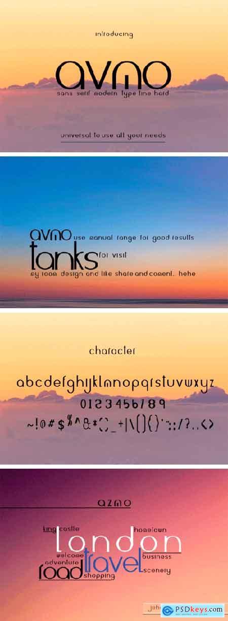 Avmo Font