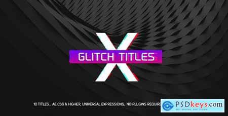 Videohive Gradient Glitch Titles Free