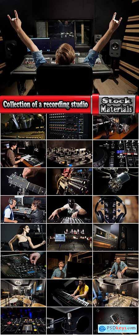 Collection of a recording studio microphone equalizer musical instrument 25 HQ Jpeg