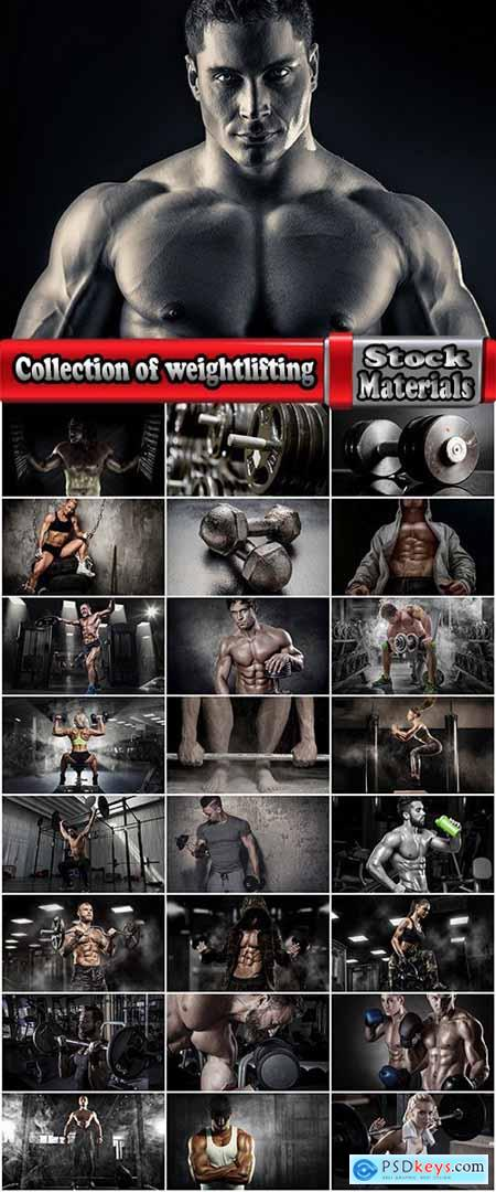Collection of weightlifting bodybuilding gym dumbbell bar exercise machine 25 HQ Jpeg