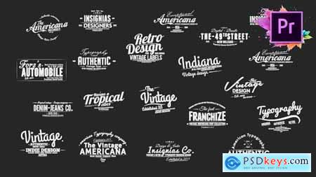 Videohive Vintage Typography Pack 26 Animated Badges Mogrt Free