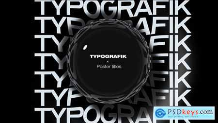Videohive Typografik - Kinetic Poster Titles