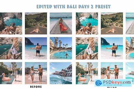 6 Mobile Lightroom Presets Bali Days