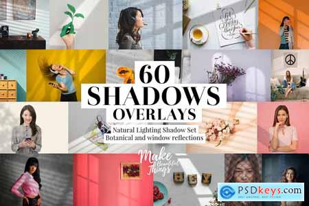 Natural shadows overlays set