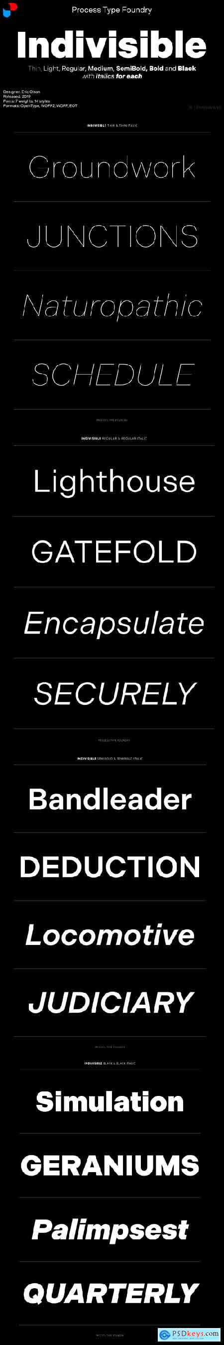 Indivisible Font Family