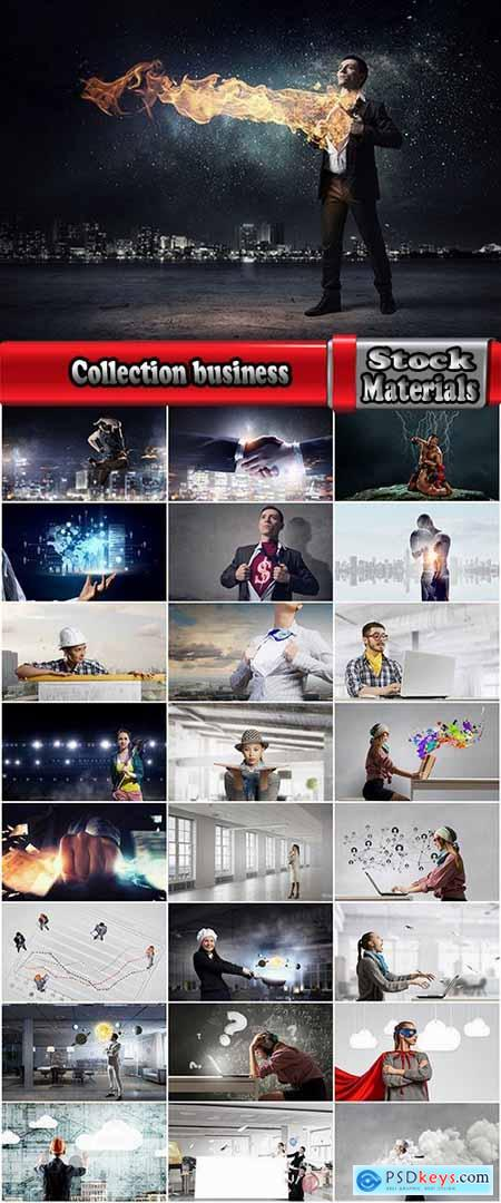 Collection business fear of angry businessman builder sportsman success office computer 25 HQ Jpeg