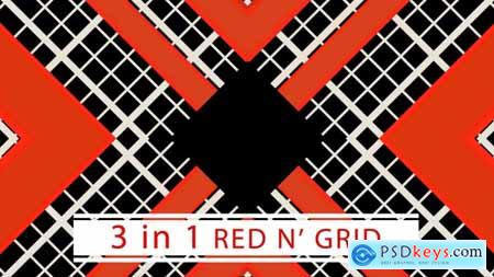 Videohive Red And Grid
