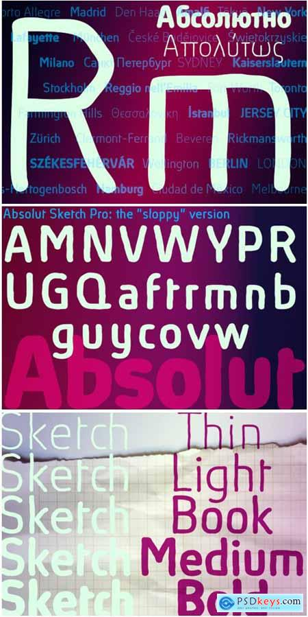 Absolut Pro Sketch Font Family