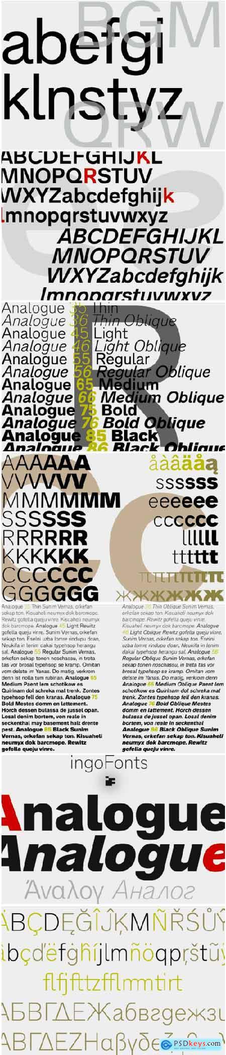 Analogue Pro Font Family