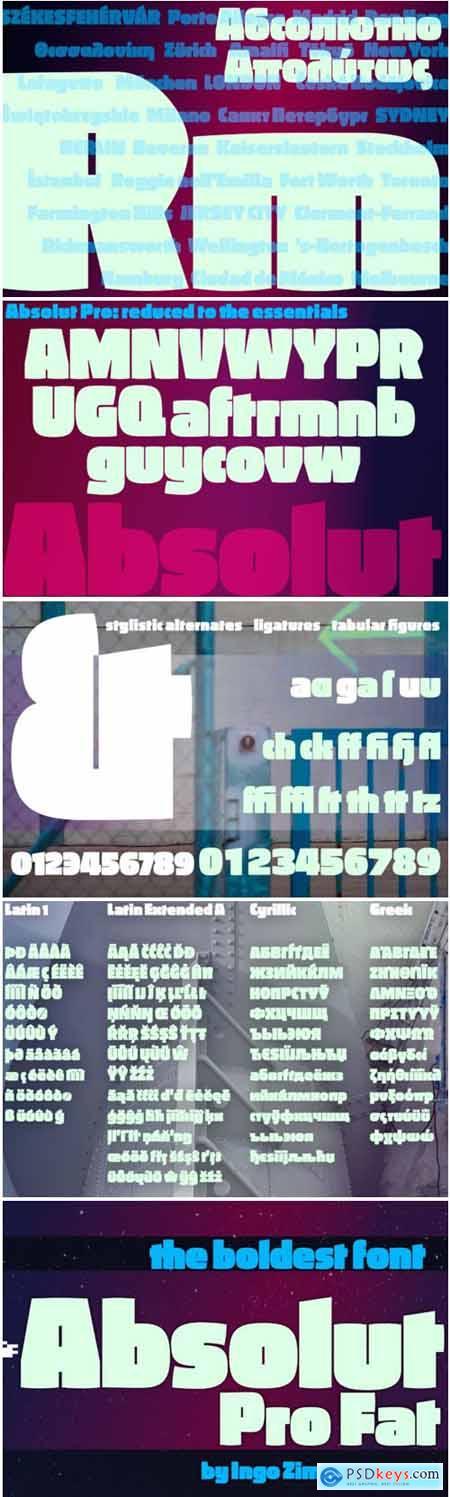 Absolut Pro Fat Font Family