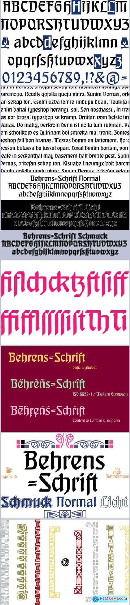 Behrens-Schrift Font