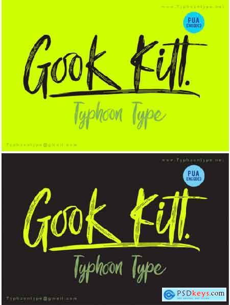 Gook Kitt Font