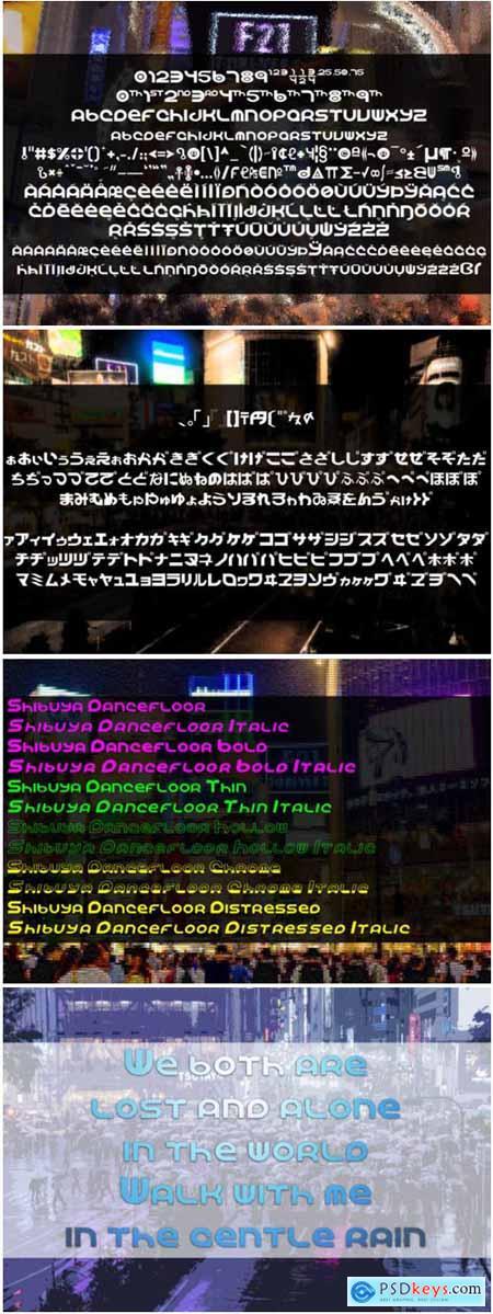 Shibuya Dancefloor Font