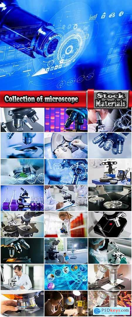 Collection of microscope micro chemical analysis laboratory 25 HQ Jpeg