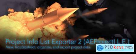 Project Info List Exporter 2 AE Script
