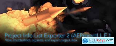 Project Info List Exporter 2 AE Script