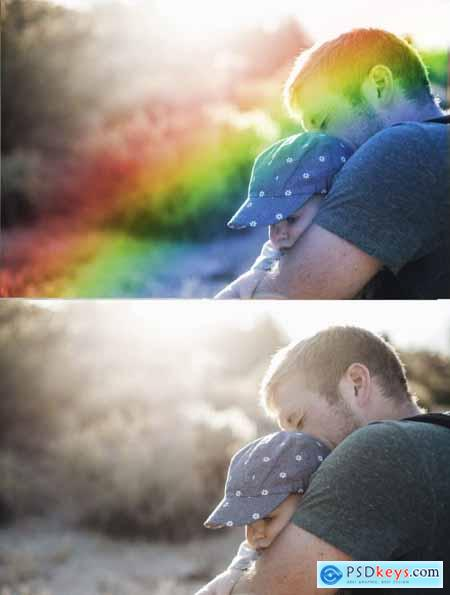 Rainbow Overlay for Photoshop Rainbow Backdrop Photo Clipart PSD