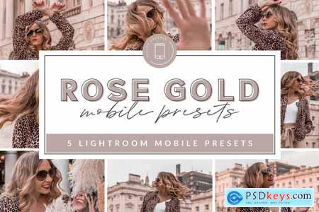 Rose Gold Mobile Presets