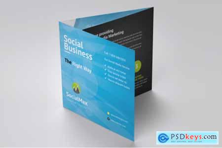 Social Media Square Trifold Brochure