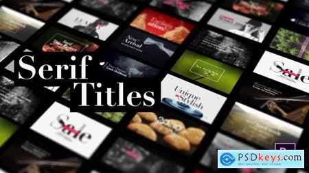 Videohive Serif Titles - Mogrt files