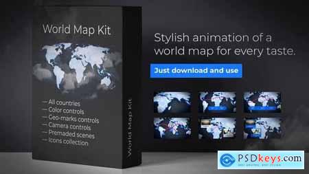 Videohive World-Map Presentation Free