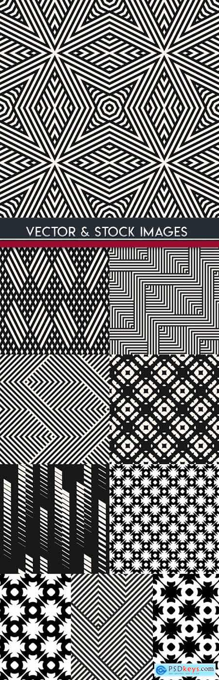Modern geometric abstract pattern black design 28