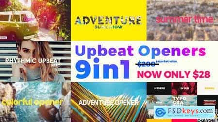Videohive Upbeat Summer Openers Bundle 9 in 1 Free