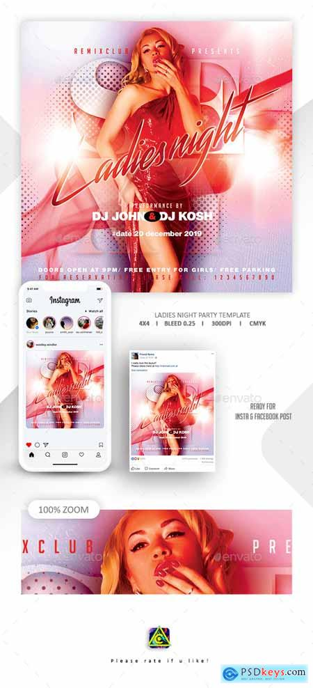 Graphicriver Ladies Night Flyer Template