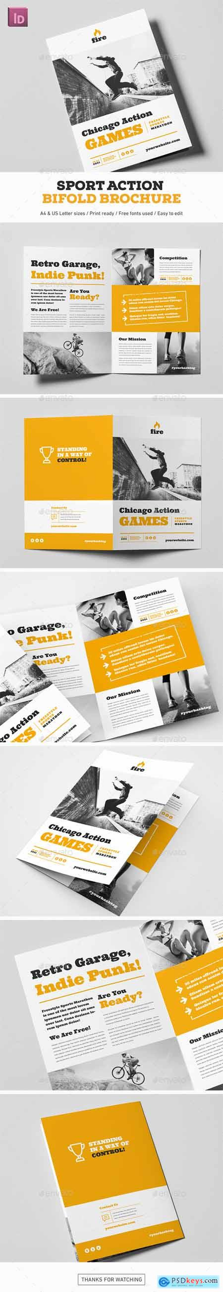 Graphicriver Sport Action Bifold Brochure