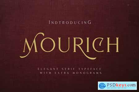 Mourich Elegant Font  With Extra