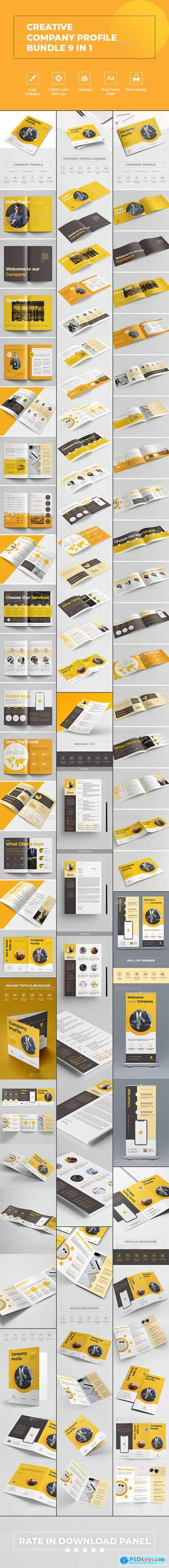 Graphicriver Creative Company Profile Bundle 9 in 1