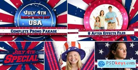 Videohive July 4th US Patriotic Broadcast Promo Pack