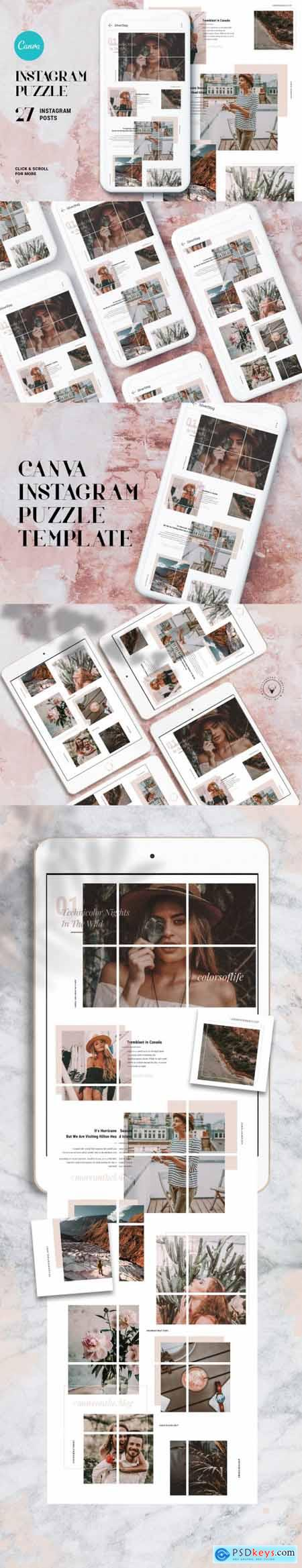 InstaGrid 1.0 Canva Puzzle Template