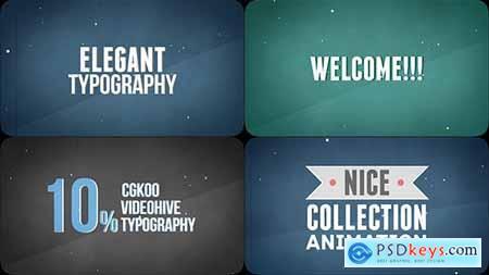 Videohive Elegant Kinetic Typography