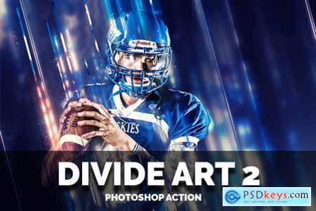 Divide Art 2 Photoshop Action