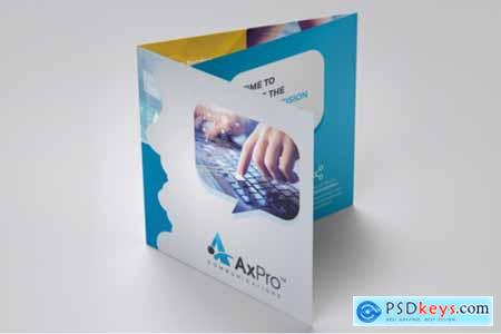 Business Square Trifold Brochure 3577314