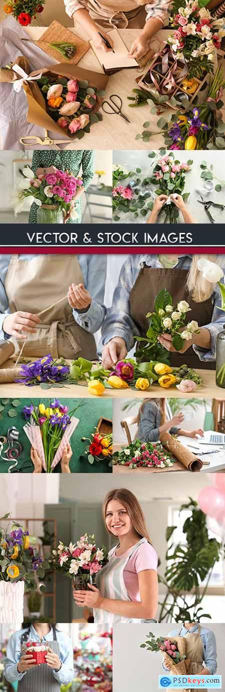 Florists creation of beautiful bouquet for sale 2
