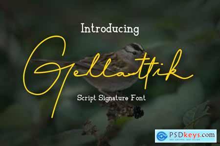 Gellattik - Script Signature Font