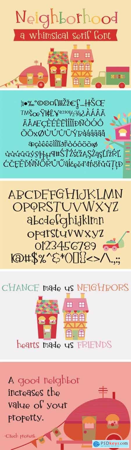 PN Neighborhood Font