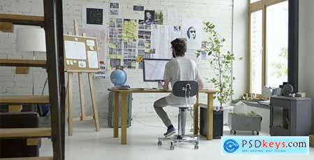 Videohive Cozy And Stylish Creative Agency Designer Office