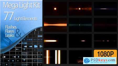 Videohive Editor's Mega Light Kit 77 Light Elements