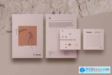 Brand Stationery Pack Avara