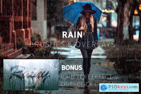 Rain Effect TEXT & Overlays & Brush